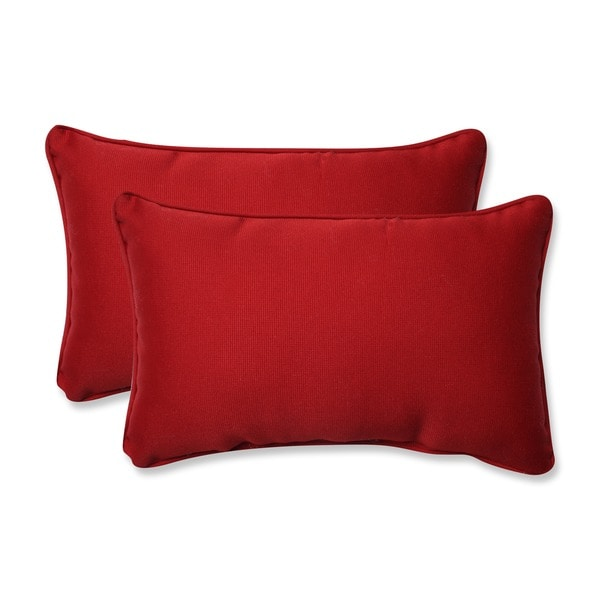 Pillow Perfect Decorative Red Polyester Outdoor Toss Pillows (Set of 2) - Free Shipping On ...