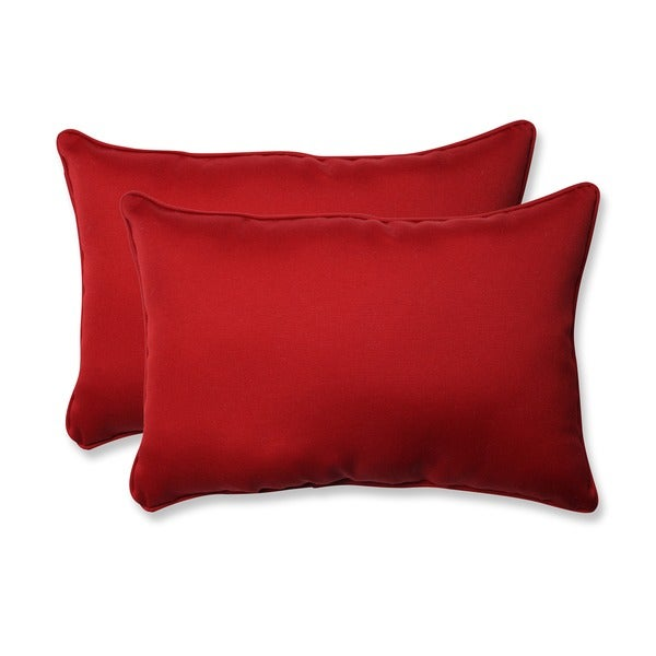 Pillow Perfect Decorative Red Outdoor Toss Pillows (Set of 2)