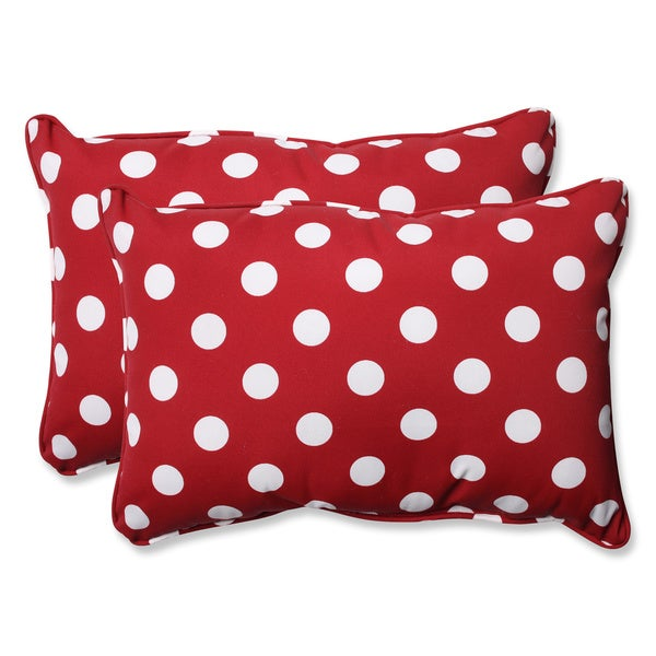 Decorative Pillows Set Of 2 : Pillow Perfect Decorative Red/ White Polka Dot Outdoor Toss Pillows (Set of 2) - Free Shipping ...