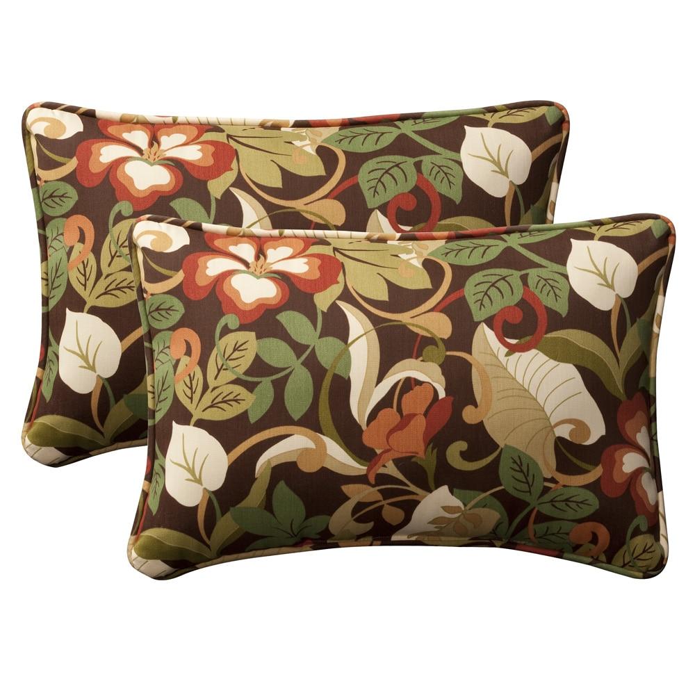 Pillow Perfect Outdoor BrownGreen Tropical Polyester Toss  : Pillow Perfect Outdoor Brown Green Tropical Polyester Toss Pillows Set of 2 L13937513 from www.overstock.com size 1000 x 1000 jpeg 190kB