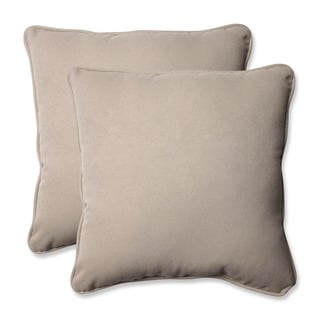 Pillow Perfect Decorative Beige Outdoor Toss Pillows (Set of 2)