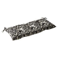 Pillow Perfect Outdoor/ Indoor Essence Black Beige Swing/ Bench Cushion