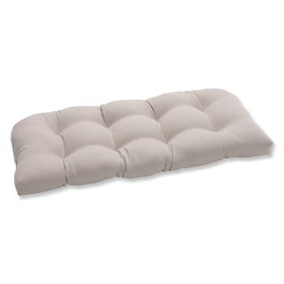 Pillow Perfect Outdoor Beige Wicker Loveseat Cushion