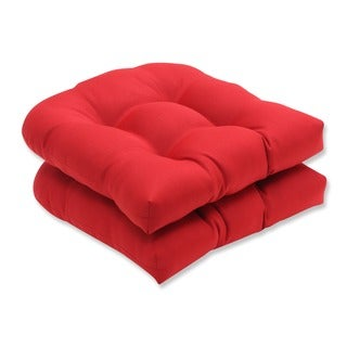 Pillow Perfect Outdoor Red Seat Cushions (Set of 2)