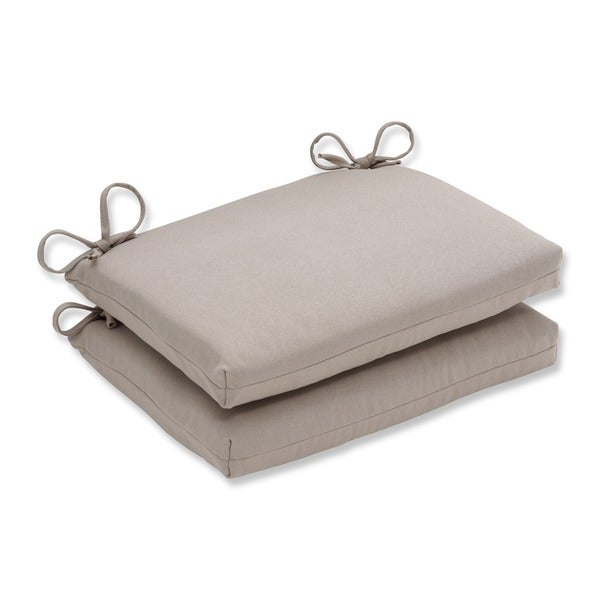 Shop Pillow Perfect Outdoor Beige Squared Seat Cushions