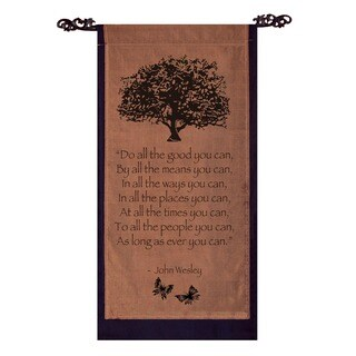 Handmade John Wesley 'Do All the Good You Can' Cotton Scroll (Indonesia)