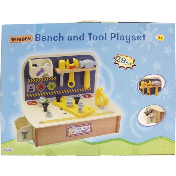 Parkfield 29-piece Wooden Bench and Tool Playset for Ages Three and Up