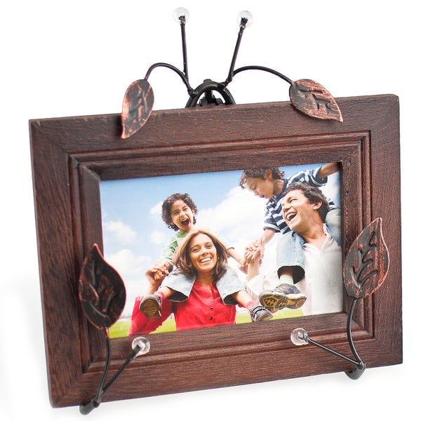 Twigs and Leaves Metal Easel Photo Frame