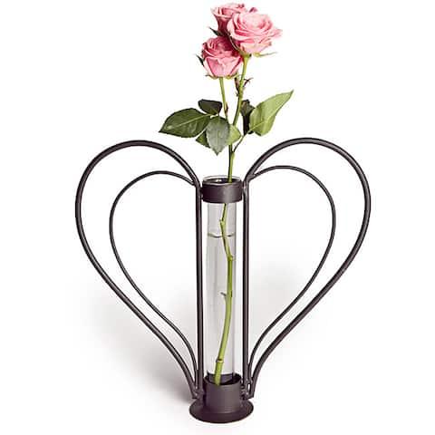 Swetheart Iron Heart-shaped Bud Vase