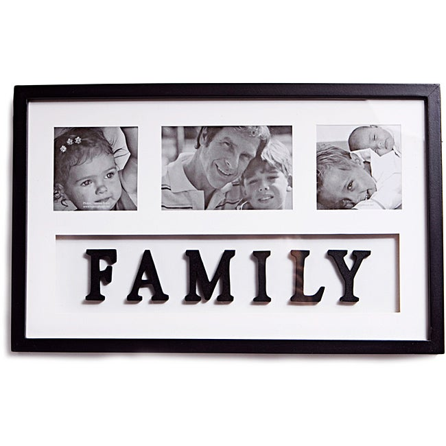 Collage 3 Photo Family Picture Frame Free Shipping On