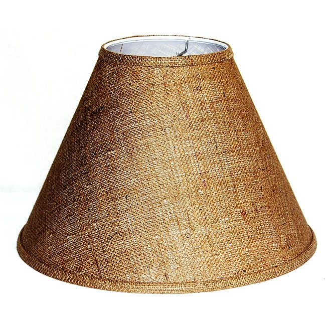 Crown Lighting Tan Burlap Empire Hardback Medium Lampshade