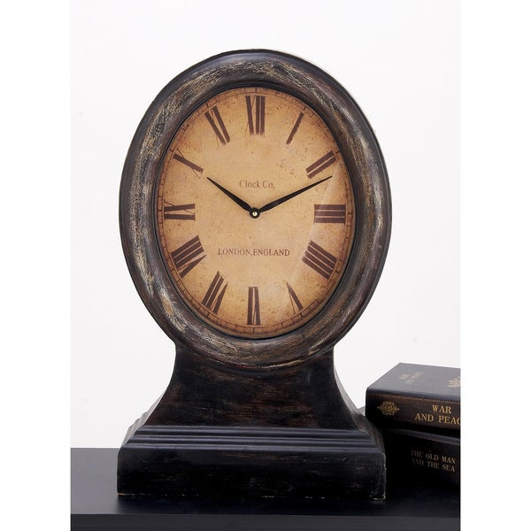 shop just on time london england large wood table clock free