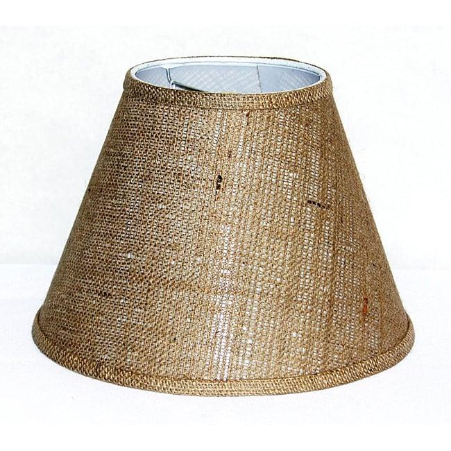 Tan Burlap Empire Hardback Small Shade