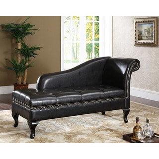 Espresso Chaise with Storage  sc 1 st  Overstock : chaise furniture - Sectionals, Sofas & Couches