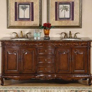 Link to Silkroad Exclusive Stone Counter Top Double Sink Cabinet 72-inch Bathroom Vanity Similar Items in Bathroom Vanities