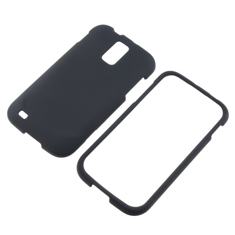 INSTEN Black Rubber-coated Phone Case Cover for Samsung Galaxy S II T989