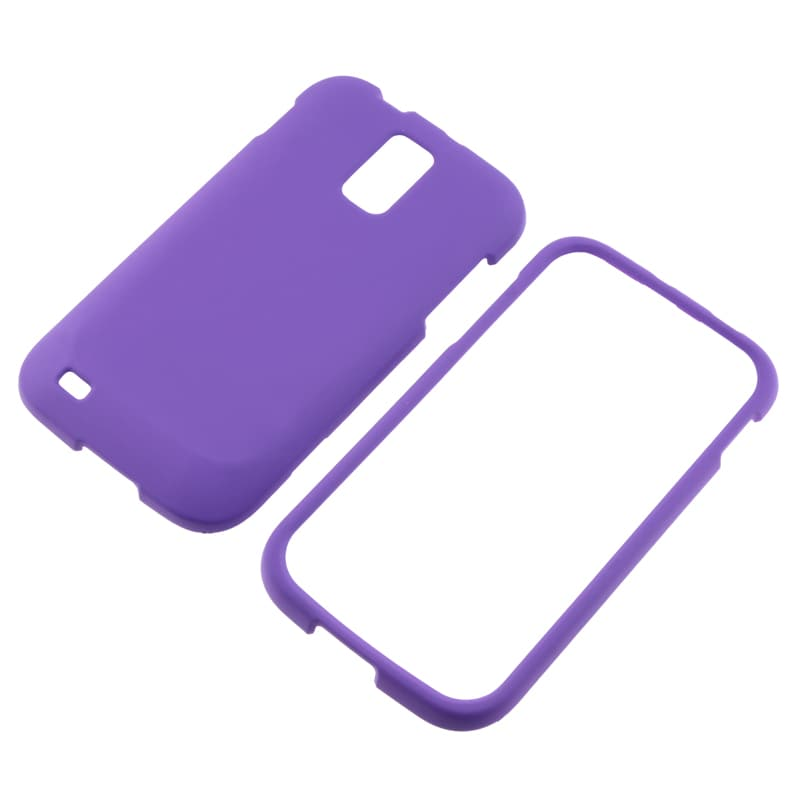 Purple Rubber-coated Case for Samsung Galaxy S II T989