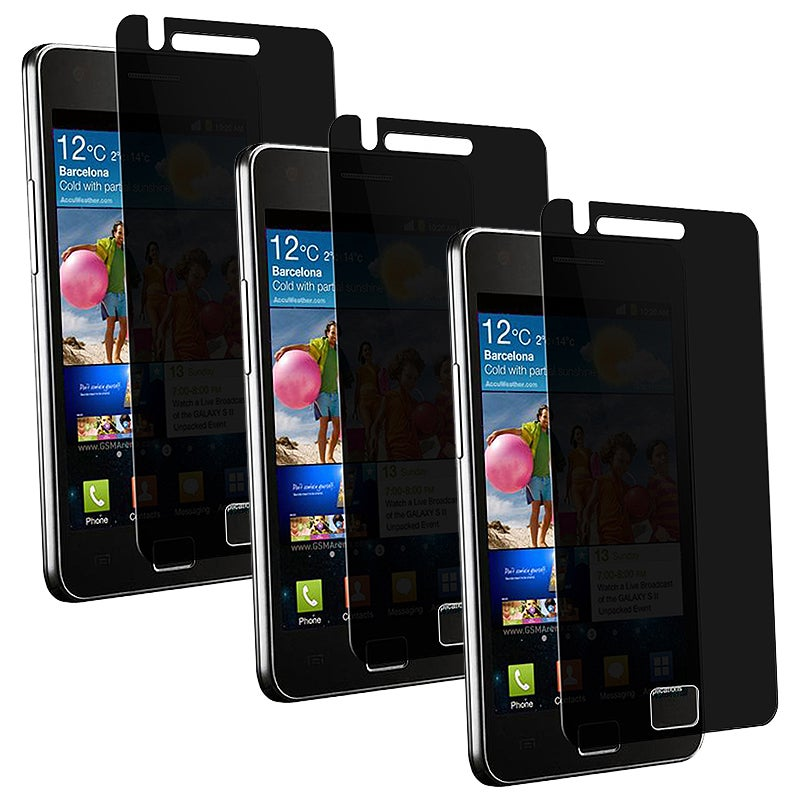 Privacy Screen Filter Protector for Samsung Galaxy S II i9100 (Pack of 3)