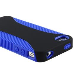 Blue Hybrid Case Protector for Apple iPhone 4 AT&T - Thumbnail 1