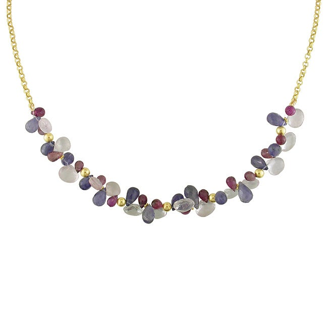 Miadora 14k Yellow Gold Multi-Colored Gemstones Fashion Necklace