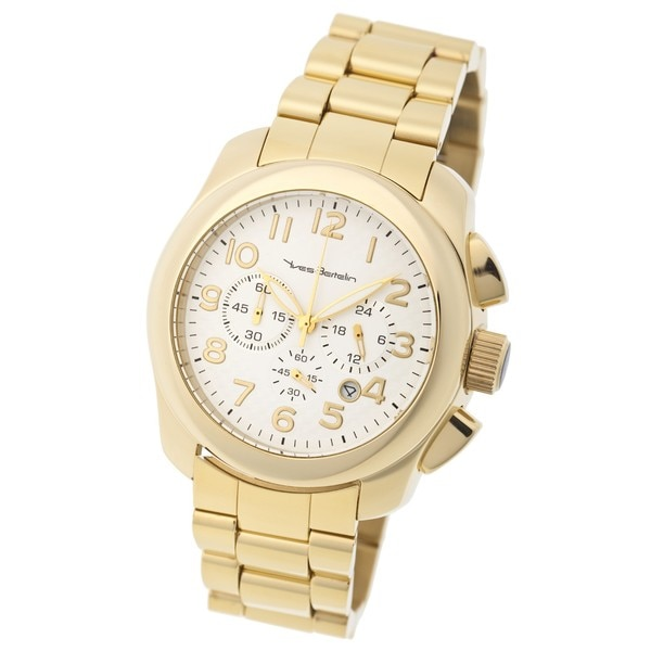 Yves Bertelin Paris Men's Gold-plated Chronograph Watch