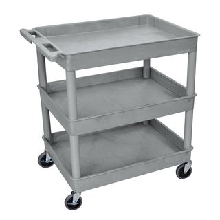 Luxor Gray 3-Tub Utility Cart