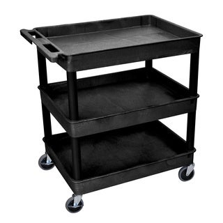 Luxor Black 3-Tub Utility Cart