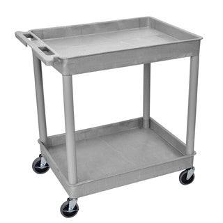 Luxor Gray Large 2-Tub Utility Cart