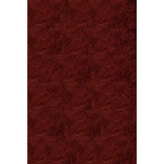 Handmade Posh Brick Red Shag Rug (2' x 3')