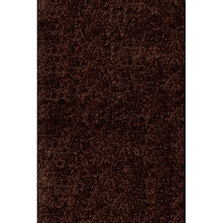 Handmade Posh Chocolate Brown Shag Rug (2' x3')