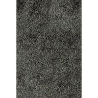 Momeni Luster Shag Carbon Hand-Tufted Shag Rug - 2' x 3'