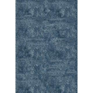 Momeni Luster Shag Light Blue Hand-Tufted Shag Rug - 2' x 3'