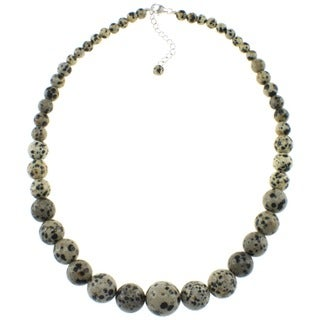 Pearlz Ocean Dalmatian Jasper Journey Necklace