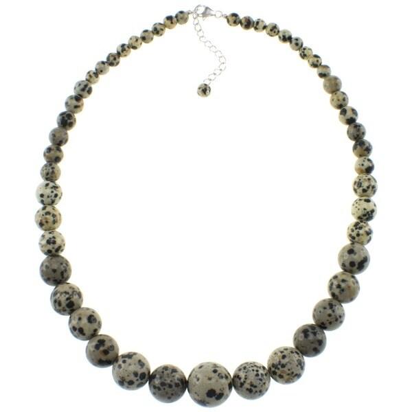 Pearlz Ocean Dalmatian Jasper Journey Necklace
