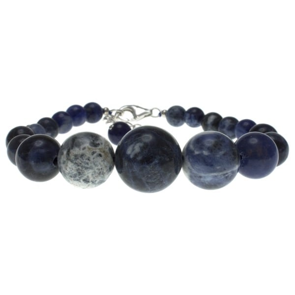 Pearlz Ocean Sterling Silver Blue Sodalite Journey Bracelet