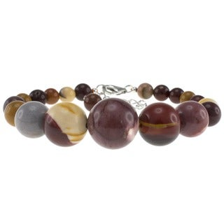 Pearlz Ocean Sterling Silver Mookite Bead Journey Bracelet