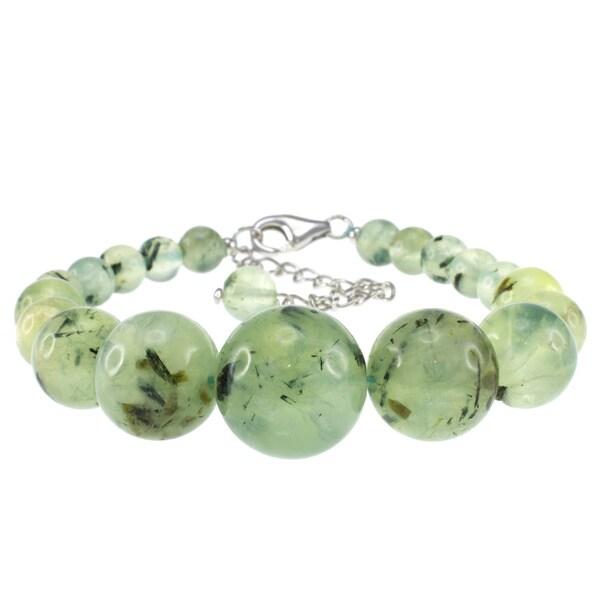 Pearlz Ocean Sterling Silver Prehnite Journey Bracelet