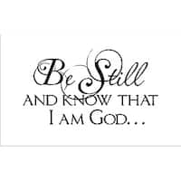 Vinyl Attraction 'Be Still and Know That I Am God' Wall Art