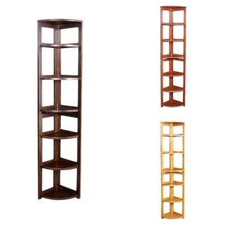 Corner Flip Flop 67-inch High Folding Bookcase