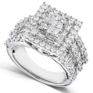 Annello by Kobelli 2ct TDW 14k White Gold Square Frame Cluster Ring|https://ak1.ostkcdn.com/images/products/6310543/P13938925.jpg?impolicy=medium