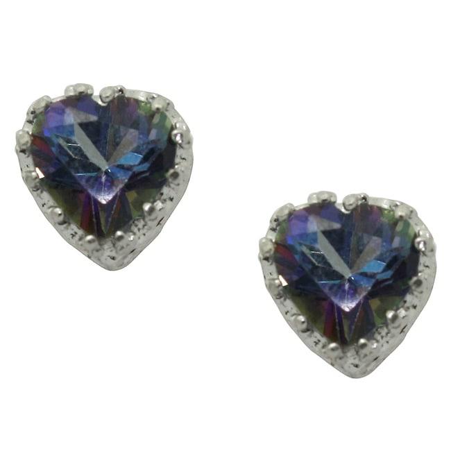 Gioelli Sterling Silver Mystic Blue Topaz Earrings