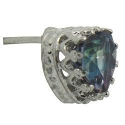 Gioelli Sterling Silver Mystic Blue Topaz Earrings - Thumbnail 1
