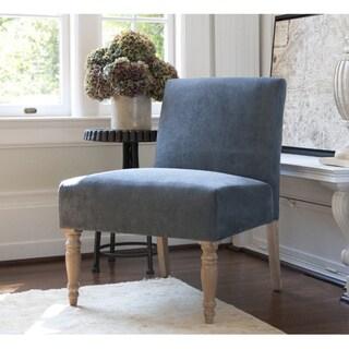 Handy Living Bradstreet Twillo Bluestone Upholstered Armless Chair