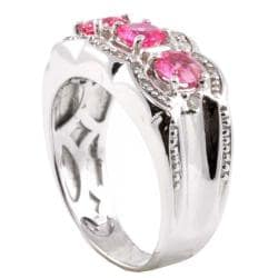 Michael Valitutti 14k Gold Pink Sapphire and 1/5ct TDW Diamond Ring (I-J, I1-2) - Thumbnail 1
