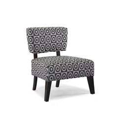 Delano Bulls Eye Grey Accent Chair