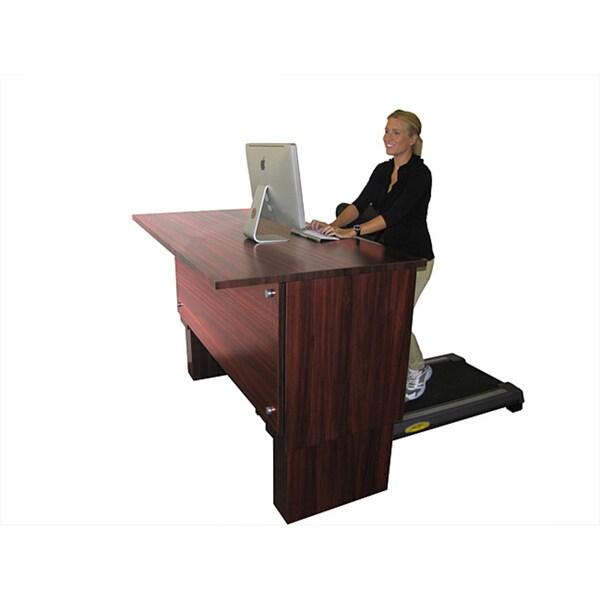 Signature Mahogany S300 Executive Treadmill Desk Free