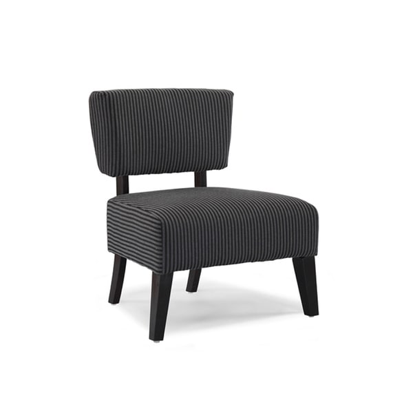 Shop Delano Grey Stripe Accent Chair Free Shipping Today