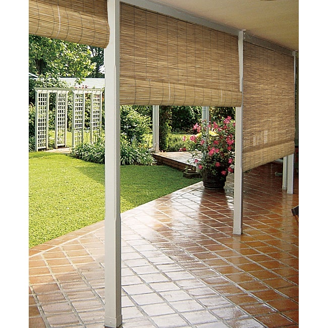 SONOMA Reed Natural Outdoor Roll-Up Blind (48 x 72 - Up t...