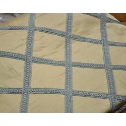 Finley Blue/Ivory Dupioni Silk Drapery Panel