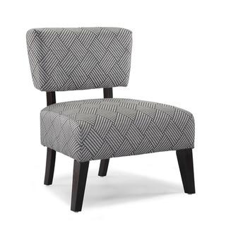 Delano Grey Cross Hatch Accent Chair